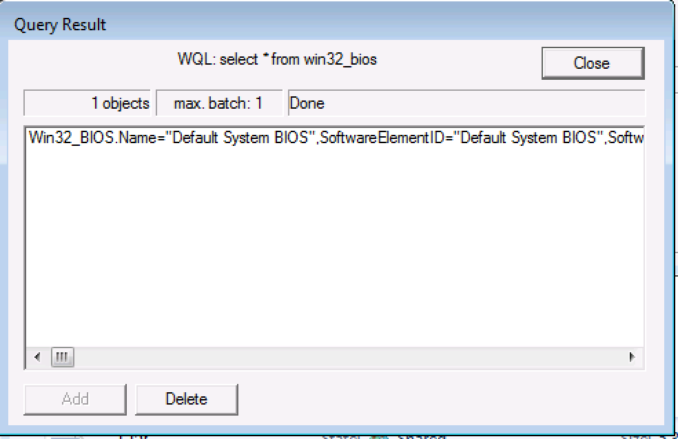 How to check System Info using WBEMTEST